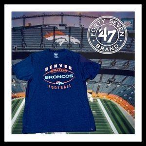 NEW  Denver Broncos 47 Brand T-Shirt